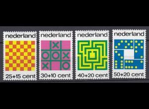 Niederlande Mi. 1019-1022 postfrisch Voor het Kind Gesellschaftsspiele 1973 (80096
