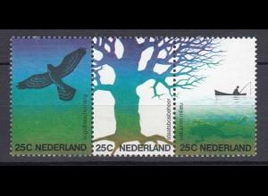 Niederlande Mi. 1023-1025 postfrisch Natur und Umwelt 1974 (80097