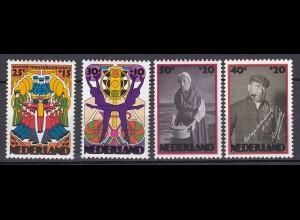 Niederlande Mi. 1026-1029 postfrisch Sommermarken 1974 (80098