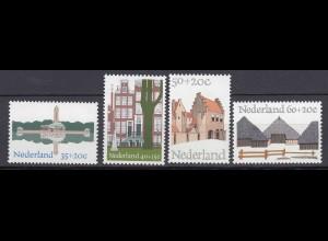 Niederlande Mi. 1039-1042 postfrisch Europäisches Denkmalschutzjahr 1975 (80104