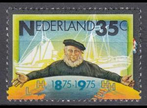Niederlande Mi. 1053 postfrisch Dampfschiffahrtgesellschaft 1975 (80106