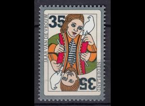 Niederlande Mi. 1055 postfrisch Internationales Jahr der Frau 1975 (80108