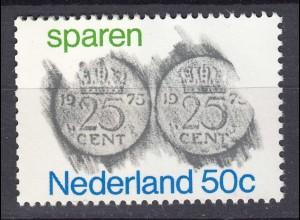 Niederlande Mi. 1058 postfrisch Sparen 1975 (80111