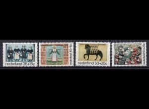 Niederlande Mi. 1059-1062 postfrisch Voor het Kind 1975 (80112