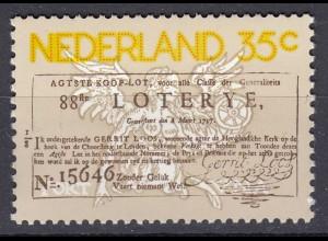 Niederlande Mi. 1063 postfrisch Staatslotterie 1976 (80113