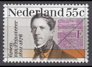 Niederlande Mi. 1075 postfr. Todestag Guillaume Grien van Prinsterer 1976 (80116