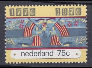 Niederlande Mi. 1076 postfrisch 200 Jahre Unabhängigkeit Amerika 1976 (80117