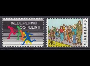 Niederlande Mi. 1077-1078 postfrisch Sportjubiläen 1976 (80118