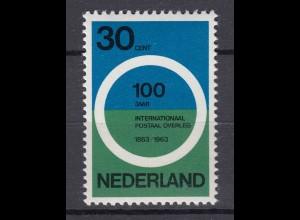 Niederlande Mi. 799 postfrisch Postkonferenz 1963 (80125