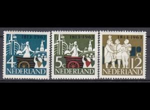 Niederlande Mi. 813-816 postfrisch 1963 (80126