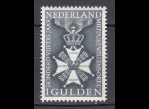 Niederlande Mi. 839 postfrisch 150 J. Militärischer Wilhelmsorden 1965 (80127