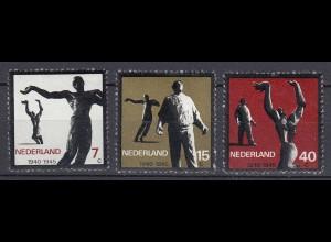 Niederlande Mi. 836-838 postfrisch Widerstandsbewegung 1965 (80128