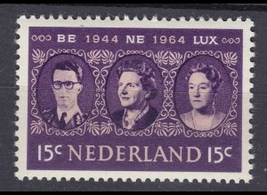 Niederlande Mi. 829 postfrisch Zollunion BENELUX 1964 (80130