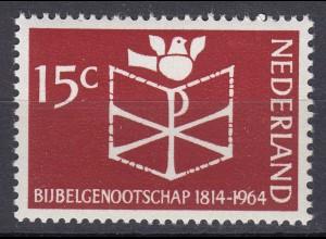 Niederlande Mi. 826 postfrisch Bilbelgesellschaft 1964 (80131