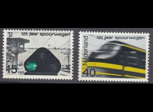 Niederlande Mi. 824-825 postfrisch Eisenbahn 1964 (80132