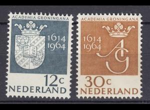 Niederlande Mi. 822-823 postfrisch Universität Groningen 1964 (80133