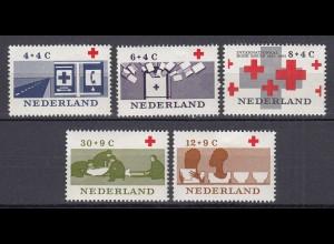 Niederlande Mi. 801-805 postfrisch Rotes Kreuz 1963 (80134