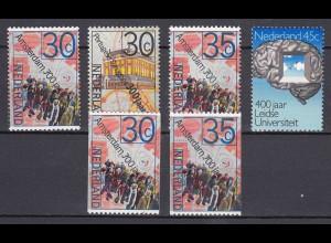Niederlande Mi. 1043-1046 A+C postfr. Geschichtliche Jahrestage 1975 (80138