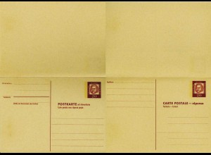 Berlin Ganzsache Frage/Antwortkarte P61 1962 * 20/20 Bach (0221