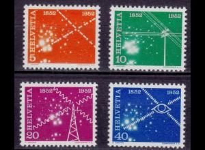 Schweiz Mi. 566-569 postfrisch 100 Jahre elekrisches Nachrichtenwesen 1952 (11228