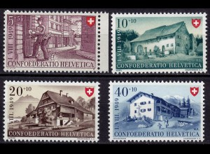 Schweiz Mi. 525-528 postfrisch Pro Patria Landhäuser 1949 (11235