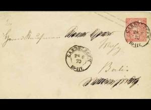 Gardelegen n.Berlin Altdeutschland T&T Ganzsache 1870 (0280