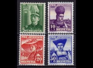 Schweiz Mi. 359-362 postfrisch Pro Juventute 1939 (11263
