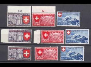 Schweiz Mi. 335-343 postfrisch Landesausstellung 1939 (11264