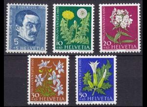 Schweiz Mi. 722-726 postfrisch Pro Juventute 1960 (11280