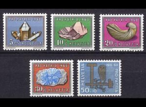 Schweiz Mi. 714-718 postfrisch Pro Patria Mineralien 1960 (11282