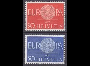 Schweiz Mi. 720-721 postfrisch Europa 1960 (11283
