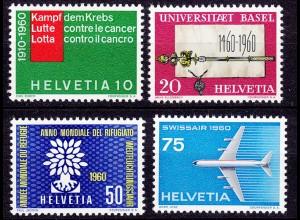 Schweiz Mi. 692-695 postfrisch Jahresereignisse 1960 (11284