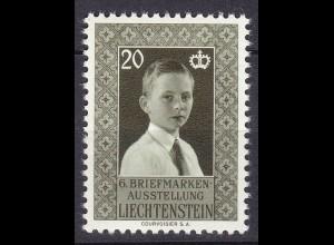 Liechtenstein Mi. 352 postfrisch Briefmarkenausstellung 1956 (11304