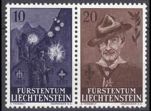 Liechtenstein Mi. 360-361 postfrisch Pfadfinder 1957 (11306
