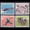 Liechtenstein Mi. 365-368 postfrisch Sport 1958 (11309