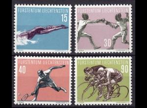 Liechtenstein Mi. 365-368 postfrisch Sport aus 1958 (11309