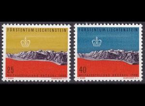 Liechtenstein Mi. 369-370 postfrisch Weltausstellung 1958 (11310