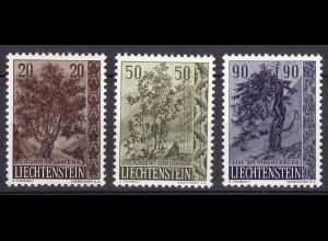 Liechtenstein Mi. 371-373 postfrisch Bäume & Sträucher 1958 (11311