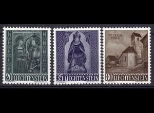 Liechtenstein Mi. 374-376 postfrisch Weihnachten 1958 (11312