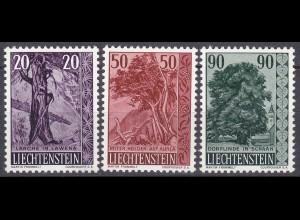 Liechtenstein Mi. 377-379 postfrisch Bäume 1959 (11313