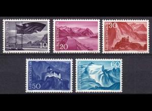 Liechtenstein Mi. 381-385 postfrisch Freimarken 1959 (11315