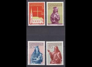Liechtenstein Mi. 470-473 postfrisch Pfarrkirche Vaduz 1966 (11316