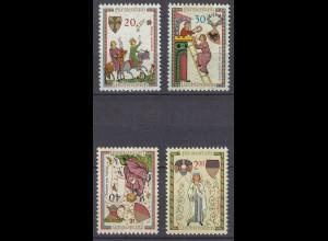 Liechtenstein Mi. 420-423 postfrisch Minnesänger 1962 (11318