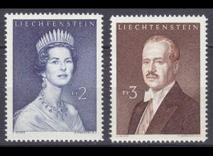 Liechtenstein Mi. 402-403 postfrisch Freimarken 1960 (11323