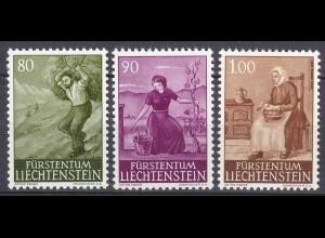 Liechtenstein Mi. 411-413 postfrisch Ländliche Motive 1961 (11324