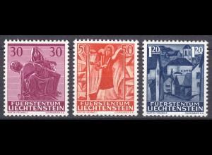 Liechtenstein Mi. 424-426 postfrisch Weihnachten 1962 (11325