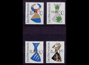 Liechtenstein Mi. 465-468 postfrisch Wappen 1966 (11326