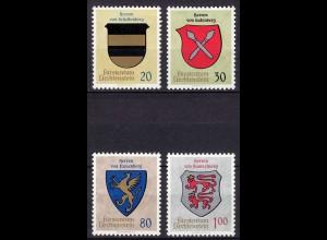 Liechtenstein Mi. 450-453 postfrisch Wappen 1965 (11328