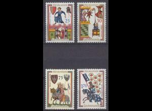 Liechtenstein Mi. 433-436 postfrisch Minnesänger 1963 (11329