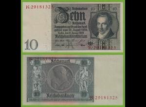 Reichsbanknote - 10 Reichsmark 1929 deutsches Reich Ros.173b aUNC K K (19529